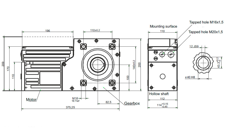 Slip On Geared Motor Compacta Ag160 Framo Morat Usa