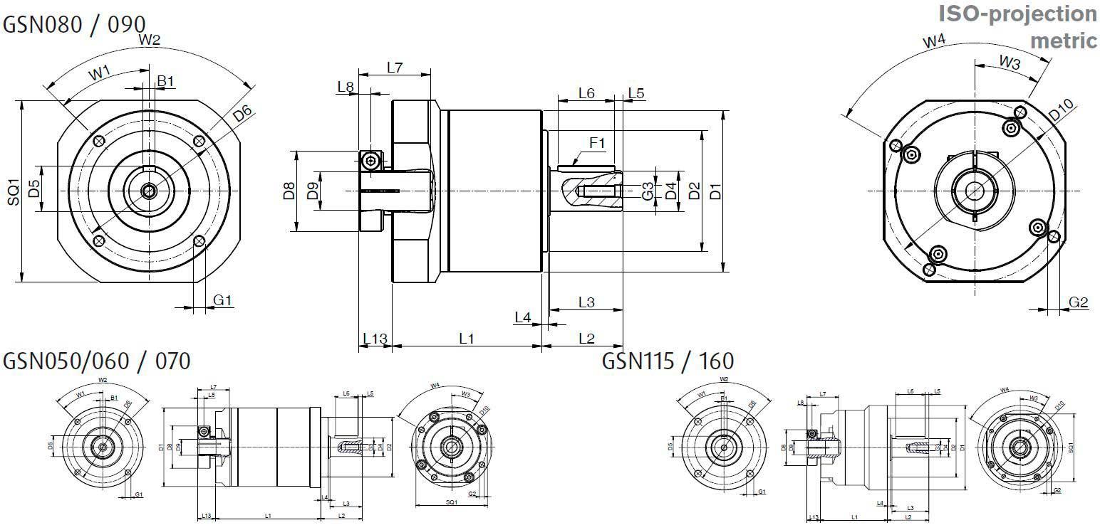 GSN-EN-dimensions