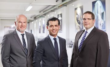(From left to right: Gökhan Balkis, Managing Director of Franz Morat Group / Dr. Matthias Dannemann, Director of Operations of Framo Morat / Jörg Hansen, Director of Operations of F. Morat)